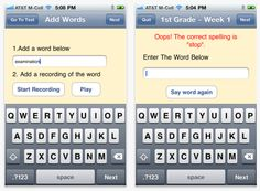 Free App: Spelling Test! Say Word, Word Work, Spelling Test, English Fun, Reading Workshop, 5th Grades, Educational Technology, Screen Shot, Language Arts