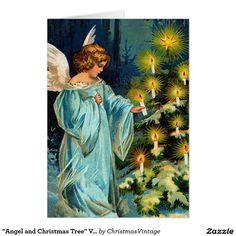 """Angel and Christmas Tree"" Vintage"