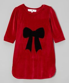 Take a look at this Red Bow Dress - Toddler & Girls by little bits on #zulily today! $25 !!