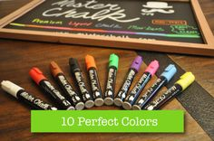 10 Pack - Mister Chalk™ Liquid Chalk Markers