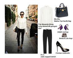 Painting Black And White Crisp White Shirt, Black Pants, Loft, Pairs, Black And White, Classic, Painting, Style, Fashion