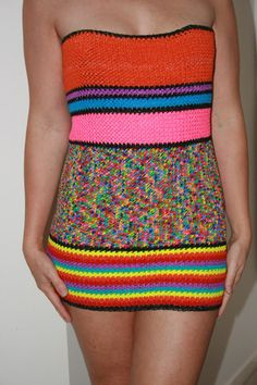 Beautiful Designer Unique Loom Band Tube Dress. by kirstywright