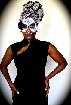 Sugar Skull Head Wrap – Royal House of Wraps