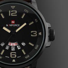 New Luxury Brand fashion Business Quartz watch Men sport Watches Military Watches Men Corium Leather Strap army wristwatch