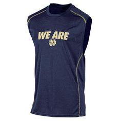 NCAA Men's Athletic Muscle T-Shirt - Notre Dame Fighting Irish, Size: Medium, Blue