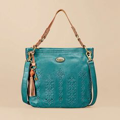 Want! Fossil - Campbell Hobo bag in peacock blue.♛♥SJJ♥♛