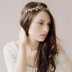 Vintage-Wedding-Bridal-Crystal-Pearl-Hair-Accessories-Headband-Crown-Tiara-Gold