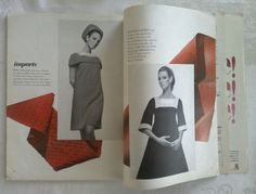 Vogue Pattern Book, August-September 1966 featuring Vogue Paris Original 1624 by Jacques Heim and 1619 by Yves Saint Laurent