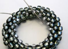 making a beaded toggle and clasp - very clear free tut ~ Seed Bead Tutorials