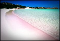 pink beach, comodo island, indonesia