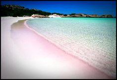 pink beach, comodo island, indonesia