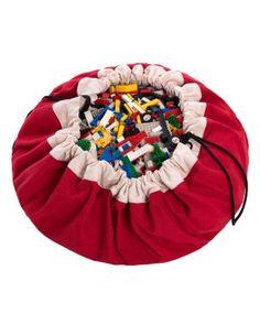Red toy storage bag