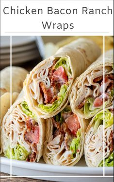 Chicken Bacon Ranch Wrap, Asian Chicken Wraps, Lunch Meal Prep, Lunch Time, Lunch Snacks, Lunch Foods, Picnic Foods, Wrap Sandwiches, Vegan Sandwiches