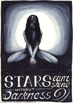 Stars cant shine without darkness Marker-Zeichnung http://www.schachow.de/stars-cant-shine-without-darkness-marker-zeichnung/