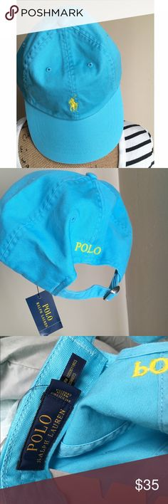 ✨CC/O✨ Polo Ralph Lauren Classic Chino Sports Cap ✨NWT & Never worn ✨Adjustable Strap ✨Color- French Turquoise ❌NO TRADES❌ Back to $35 after sale Polo by Ralph Lauren Accessories Hats