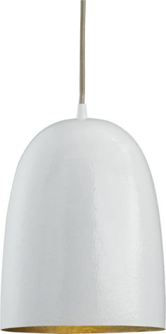 Silvia Bell Pendant Lamp  | Crate and Barrel Could I hack this on our current dining room light?  Paint the interior gold?