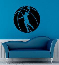 Basketball Player Wall Sticker Basket Ball Vinyl Decal Sport Game Interior Home Design Wall Murals Bedroom Decor Door Sticker Door Stickers, Wall Sticker, Wall Decals, Vinyl Decals, Basketball Wall, Basketball Players, Basketball Clipart, Wall Murals Bedroom, Bedroom Decor