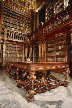 Coimbra, Portugal. Library of Coimbra University