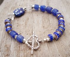 Hey, I found this really awesome Etsy listing at https://www.etsy.com/listing/71787119/blue-trade-bead-bracelet