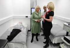 New article: HRH the Duchess of Rothesay (Camilla Parker Bowles) is shown a clinical investigation unit during the inauguration of a new lab of the Rowett Institute of Nutrition and Health (University of Aberdeen) Aberdeen University, White Lab Coat, Nutrition For Runners, Camilla Parker Bowles, Graduate Program, Duchess Of Cornwall, Investigations, Clinic, The Unit