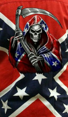 Fear Me I am coming for you Scumbags Crane, Reaper Drawing, Skull Pictures, King William, Southern Pride, Skull Mask, Confederate Flag, Air Brush Painting, Skulls