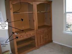 Remember these sturdy Broyhill bookcases I got on Craigslist for our schoolroom? Well, they were hiding a little secret....   While the fron...