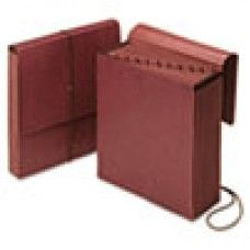 Desk Supplies>Desk Set / Conference Room Set>Holders> Files & Letter holders: Vertical Indexed Expanding File, Jan-Dec., 12 Pockets, Letter, Redrope