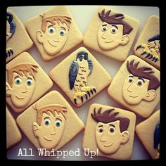 Wild Kratts decorated cookies from All Whipped Up!