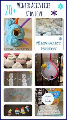 20+ Winter Activities Kids Love by FSPDT * Sensory, snacks, sciences, books, crafts and more...