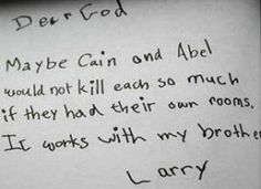 Advice for Cain And Abel :)))