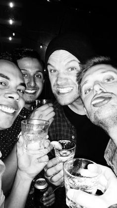 Jared and Jensen at a bar in Austin