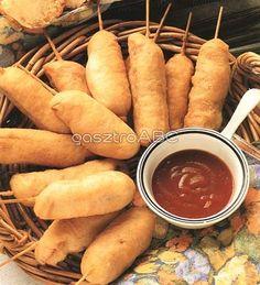 Mini kukoricás hot-dog | Receptek Hot Dogs, Sweet Potato, Vegetables, Mini, Ethnic Recipes, Food, Veggies, Vegetable Recipes, Meals
