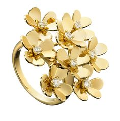 To know more about Van Cleef&Arpels Frivole Ring, visit Sumally, a social network that gathers together all the wanted things in the world! Featuring over 233 other Van Cleef&Arpels items too! High Jewelry, Jewelry Art, Gold Jewelry, Jewelry Rings, Jewelry Accessories, Fashion Jewelry, Jewelry Design, Unique Jewelry, Flower Jewelry