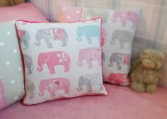 A personal favourite from my Etsy shop https://www.etsy.com/uk/listing/264406635/girls-personalised-cushion-elephant