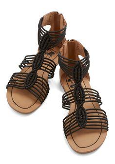 Natural Necessity Sandal in Black -- rare gladiator style I actually like.  Strappy Sandals 5da3f0272123e