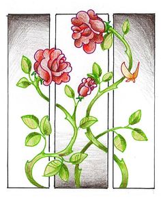 Climbing Rose by K M Pawelec - Climbing Rose Drawing - Climbing ...