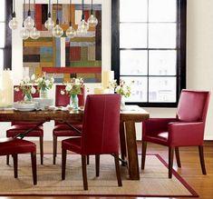 esszimmer stühle design rot