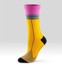 funny pencil socks - I want a pair!!