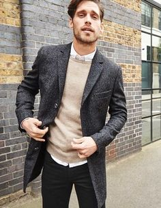 Explore our range of coats and jackets for men at Boden. We've got a wide selection of men's outerwear, from smart macs to quilted jackets and tweed blazers. Tweed Overcoat, Tweed Blazer, Office Looks, Quilted Jacket, Suit Jacket, Mens Fashion, Casual, British, Clothes