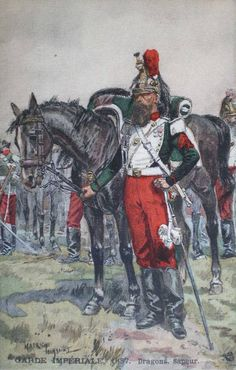 French; Imperial Guard, Dragoons, Sapper, 1857 by Maurice Toussaint