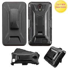 MYBAT Cyborg Armor Holster ZTE Prestige 2 4G LTE Case