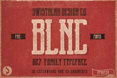Blnc Family Typeface by Swistblnk Design Std. on @creativemarket