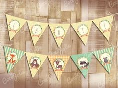 Kit Animalitos del Bosque. Imprimibles personalizables Baby Shower Niño, Ideas Para Fiestas, Woodland, Scrap, Quilts, Blanket, Kids, Animals, Party Ideas