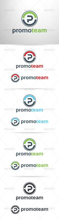 Promo Team  Letter P Logo — Vector EPS #team #modern • Available here → https://graphicriver.net/item/promo-team-letter-p-logo/6512800?ref=pxcr