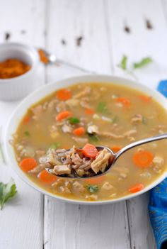 Coconut Curry Turkey Rice Soup
