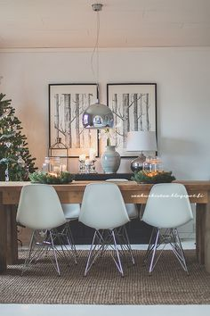 Kitchen Dining, Dining Room, Dining Table, Living Room Interior, Living Room Decor, Country Modern Home, Scandinavian Christmas, Home Staging, Home And Garden