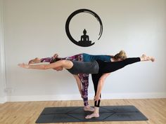Partner yoga to stretch the body and mind!