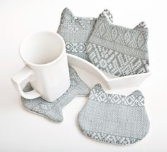 Tribal Fabric Coasters by JuliaWine
