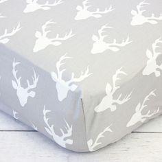 Crib Sheet | Whitney's Woodland Deer Bumperless Crib Baby Bedding Set