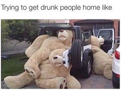trying to get drunk people home